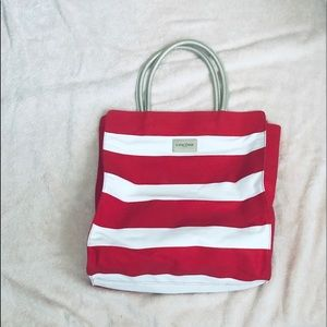 Never used Lancôme Tote in Red and White